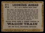 1958 Topps TV Westerns #51   Looking Ahead  Back Thumbnail