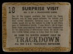 1958 Topps TV Westerns #18   Surprise Visit  Back Thumbnail