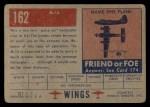 1952 Topps Wings #162   M-14 Back Thumbnail