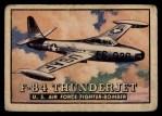 1952 Topps Wings #76   F-84 Thunderjet Front Thumbnail