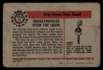 1953 Bowman Firefighters #17   Engine-Propelled Steam Fire Engine - Christie Back Thumbnail