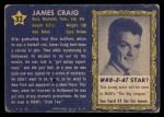 1953 Topps Who-Z-At Star #32  James Craig  Back Thumbnail