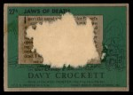 1956 Topps Davy Crockett #27 GRN  Jaws of Death  Back Thumbnail