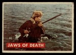 1956 Topps Davy Crockett #27 GRN  Jaws of Death  Front Thumbnail