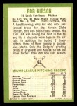 1963 Fleer #61  Bob Gibson  Back Thumbnail
