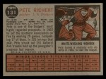 1962 Topps #131 A Pete Richert  Back Thumbnail