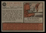 1962 Topps #105  Don Mossi  Back Thumbnail