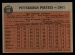 1962 Topps #409   Pirates Team Back Thumbnail