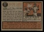 1962 Topps #502  Hector Lopez  Back Thumbnail