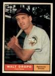 1961 Topps #489  Walt Dropo  Front Thumbnail