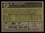 1961 Topps #397  Hal Woodeshick  Back Thumbnail