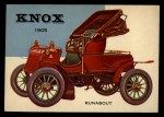 1954 Topps World on Wheels #116   Knox Runabout 1905 Front Thumbnail
