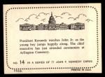 1964 Topps JFK #14   JFK & Son Back Thumbnail