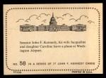 1964 Topps JFK #58   Sen. Kennedy & Family-Wash. Airport Back Thumbnail