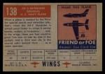 1952 Topps Wings #138   AD-5 Skyraider Back Thumbnail