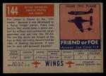 1952 Topps Wings #144   DC-6A Douglas Back Thumbnail