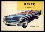1954 Topps World on Wheels #173 BLU  Buick Wildcat III Front Thumbnail