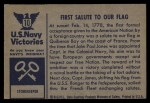 1954 Bowman U.S. Navy Victories #10   First Salute to our Flag Back Thumbnail