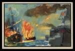 1954 Bowman U.S. Navy Victories #6   Spanish Fleet Destroyed Front Thumbnail