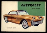 1954 Topps World on Wheels #172 BLU  Chevrolet Biscayne Front Thumbnail