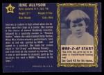 1953 Topps Who-Z-At Star #43  June Allyson  Back Thumbnail