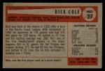 1954 Bowman #27  Dick Cole  Back Thumbnail