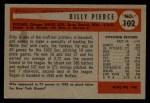 1954 Bowman #102  Bill Pierce  Back Thumbnail