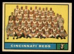 1961 Topps #249 xNCH  Reds Team Front Thumbnail