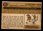 1960 Topps #23  Eddie Fisher  Back Thumbnail