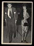 1964 Topps JFK #51   Sen. Kennedy On Crutches Front Thumbnail