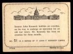 1964 Topps JFK #51   Sen. Kennedy On Crutches Back Thumbnail