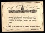 1964 Topps JFK #57   Sen. Kennedy W/Family At Summer Home Back Thumbnail