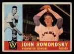 1960 Topps #87  John Romonosky  Front Thumbnail