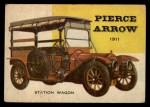 1954 Topps World on Wheels #16   Pierce Arrow Station Wagon 1911 Front Thumbnail