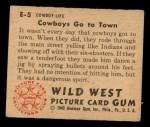1949 Bowman Wild West #5 E  Cowboy's Go to Town Back Thumbnail