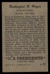 1952 Bowman U.S. Presidents #22  Rutherford Hayes    Back Thumbnail
