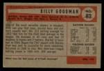1954 Bowman #82 ALL Billy Goodman  Back Thumbnail