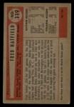 1954 Bowman #119  Fred Hatfield  Back Thumbnail