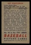 1951 Bowman #45  Art Houtteman  Back Thumbnail