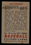 1951 Bowman #70  Ron Northey  Back Thumbnail