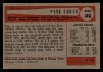 1954 Bowman #99 ALL Pete Suder  Back Thumbnail