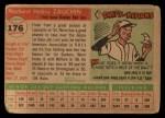 1955 Topps #176  Norm Zauchin  Back Thumbnail