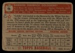 1952 Topps #46 RED Gordon Goldsberry  Back Thumbnail