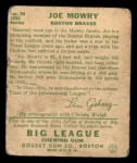 1934 Goudey #59  Joe Mowry  Back Thumbnail