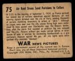 1939 Gum Inc. War News Pictures #75   Air Raid Sirens Send Parisians To Cellars Back Thumbnail