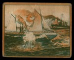 1939 Gum Inc. War News Pictures #76   Destroyer Sinks Strangely Disguised U-Boat Front Thumbnail
