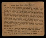 1941 Gum Inc. War Gum #45   Guns Blast Corregidor Invasion Back Thumbnail