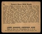 1940 Gum Inc. Lone Ranger #3   Tonto's Race with Death Back Thumbnail