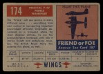 1952 Topps Wings #174   Percival P.50 Prince Transport Back Thumbnail
