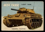 1954 Topps World on Wheels #42   M24 Tank Front Thumbnail